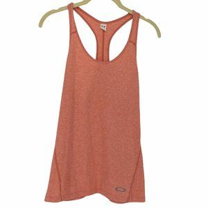 Oakley heathered coral racerback Tank top